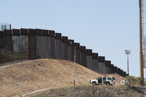 Border Fence and Border Patrol in Nogales, Arizona