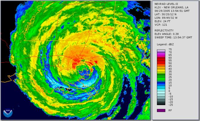 Hurricane Katrina at Landfall on August 29, 2005
