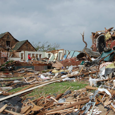 Destruction from Joplin tornado