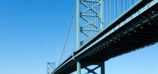 bridge with a blue sky