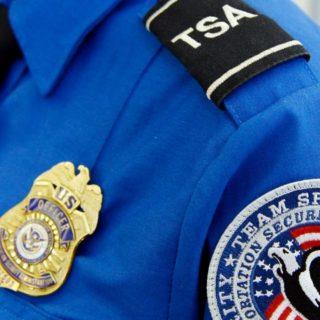 TSA uniform close-up