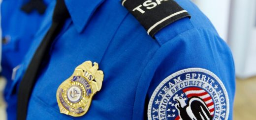 TSA uniform close-up
