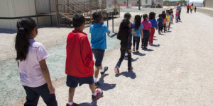 Immigrant children at a private detention facility, photo provided by ICE