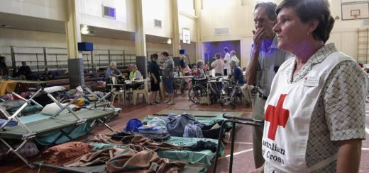 Red Cross Shelter Australia flooding
