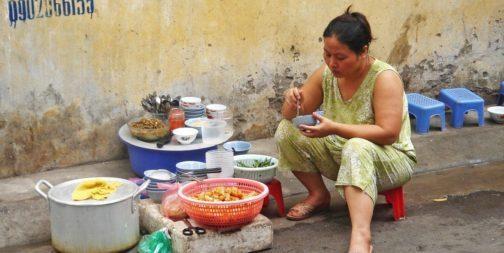 Food vendor in Vietnam