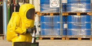 Collecting hazardous material