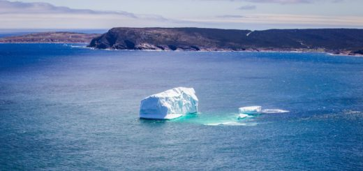 iceberg melting in a body of water