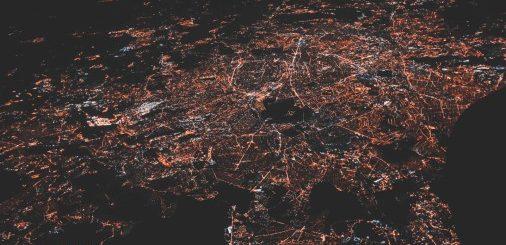 Light network at night
