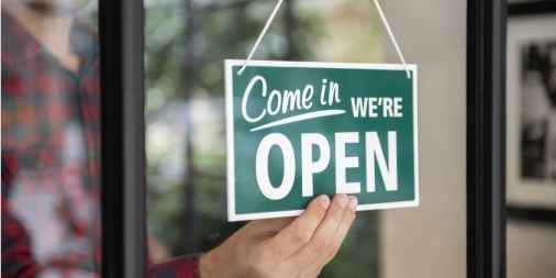 Open Sign. Open for business