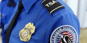 TSA Uniform and badge