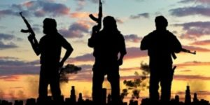 Terrorists with AK47