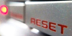 Reset button on Nintendo
