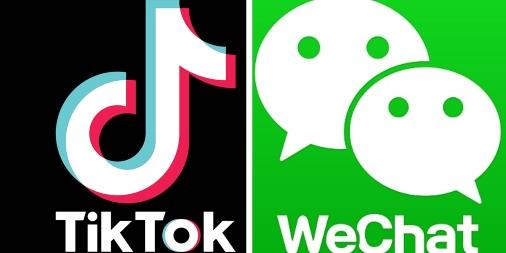TikTok and WeChat logos