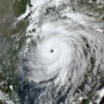 Aerial of Hurricane Laura
