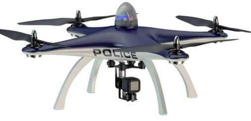 Drone aircraft for police and law enforcement