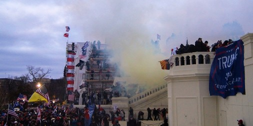 Rioters at Capitol building