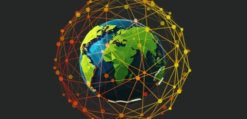 Globe with worldwide cyber threats