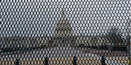fenced capitol bldg