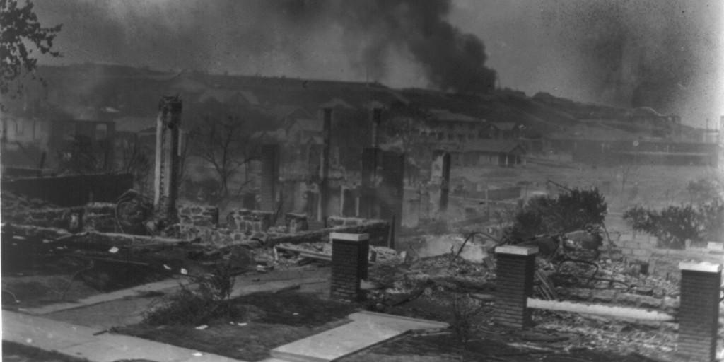 Ruins of Buildings on Black Wall Street in Tulsa, OK in 1921