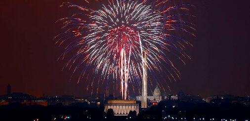 July 4th Fireworks Display Over Washington DC