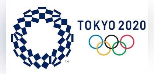 Olympic rings for the 2020 Tokyo Games