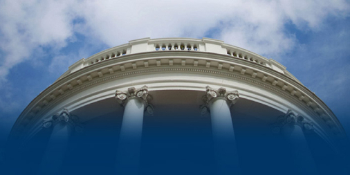 Image of part of White House building against sky